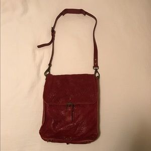Will Leather Goods Handbags - Red Will Leather Goods bag w/ padded laptop pocket