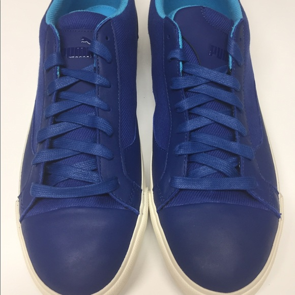 Puma Rush -Alexander McQueen Blue Leather Sneakers dedfdab43