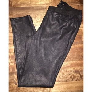 ABS Platinum day leather leggings size 4 in black