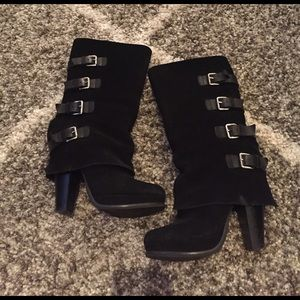 Report Shoes - Report Black Buckle Boots