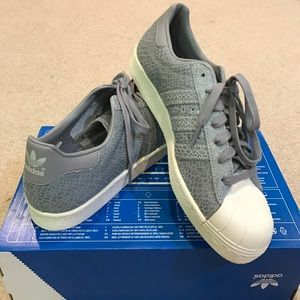 Adidas Shoes - Only Today!Adidas Superstars iridescent suede grey