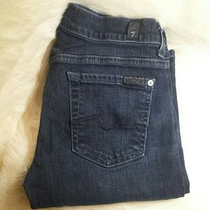 7 For All Mankind Denim - 7 For All Mankind Bootcut Jeans Dark Wash Size 25