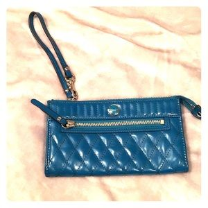 Master Coat Handbags - Authentic Coach wristlet- teal