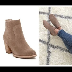 Dolce Vita Taupe Ankle Booties