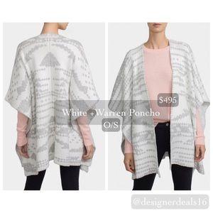 White + Warren Sweaters - Like NEW White + Warren Jacquard Blanket Poncho!
