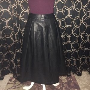 whowhatwear Dresses & Skirts - Black Faux Leather Skirt