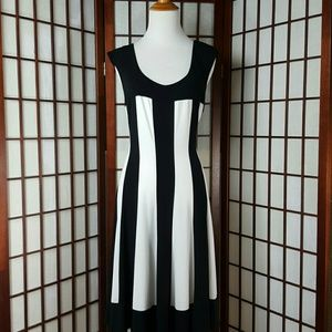Connected Apparel Dresses & Skirts - CONNECTED APPAREL Striped A Line Dress Size 16