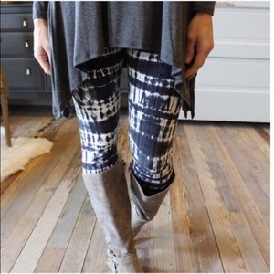 Infinity Raine Pants - ❤2 LEFT SALE❤Soft Gray Navy White Tie Dye Leggings