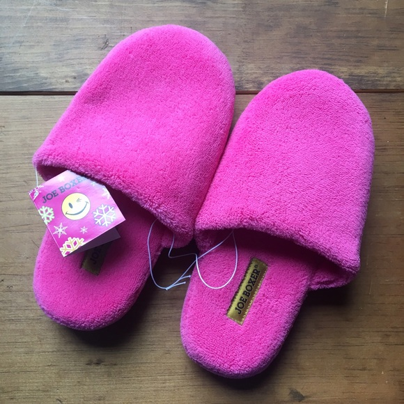 bd8d22c5121 Brand New Bright Pink Joe Boxer Slippers