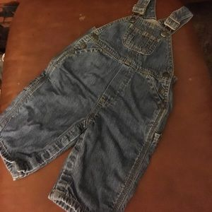 Toddler boy or girl lined BabyGap overalls w snaps