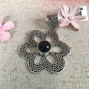 Kaki Jo's Closet Jewelry - Indian Black Star Diopside Sterling Silver Pendant