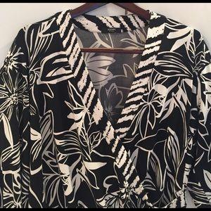 Alfani Tops - Alfani cross front blouse plus size