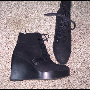 Zara Shoes - Zara Wedge Booties- Size 10