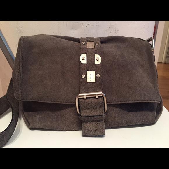 a07787fa568 Celine Bags   Cline Grey Suede Crossbody Bag   Poshmark