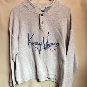 Vintage 80's Key West Button Up Sweatshirt