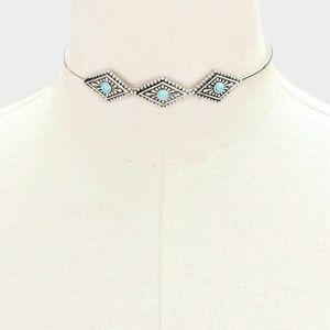 Farah Jewelry Jewelry - Turquoise howlite choker