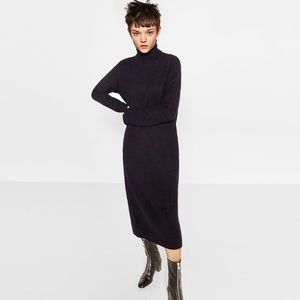 Zara turtleneck sweater dress