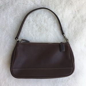 Coach Handbags - Coach Mini Brown Leather Shoulder Bag