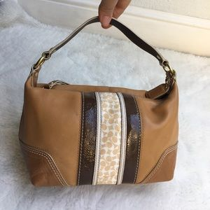 Coach Handbags - Coach Mini Tan Leather Bag