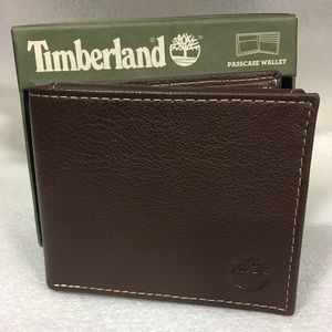 Timberland Other - Timberland Mens Blix Passcase Brown Leather Wallet
