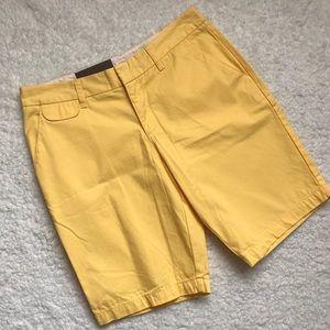 Merona Pants - Merona Yellow Bermuda Shorts Size 8