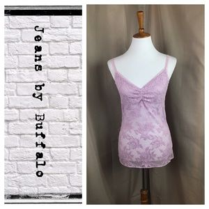 Jeans by Buffalo lilac lace tank top
