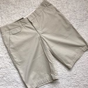 Merona Pants - Merona Khaki Bermuda Shorts Size 8