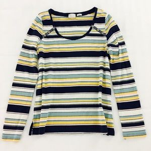 Anthropologie Tops - Anthropologie Postage Stamp Striped Long Sleeve