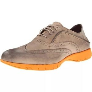 Hush Puppies Other - Hush Puppies Taupe Leather Brogue Oxfords 10.5 M