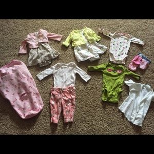 Other - Lot of Newborn clothes & Summer brand swaddler