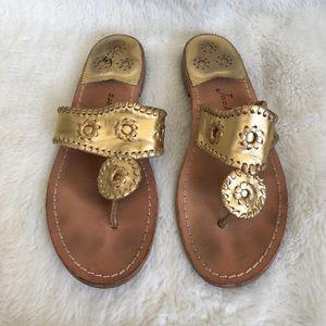 Jack Rogers Shoes - Jack Rogers Gold Sandals size 8