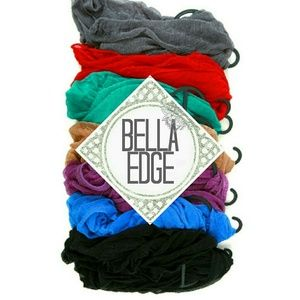 Bella Edge Accessories - Solid color infinity scarf