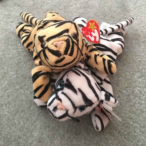 21caf8102b0 Rare Ty Beanie Babies Stripes   Blizzard RETIRED
