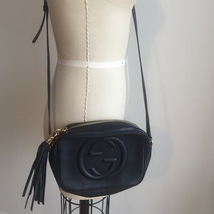 Gucci Handbags - Gucci leather disco crossbody bag in Navy!