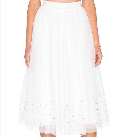 Anthropologie Skirts - BNWT Anthropologie Sunday Jumps White Tulle Skirt