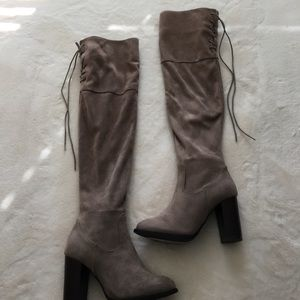 Shoes - Over the knee taupe boots - size 5.5