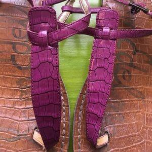 a34eb891ef4e Sam Edelman Shoes - Sam Edelman Purple Croc Gigi Sandal