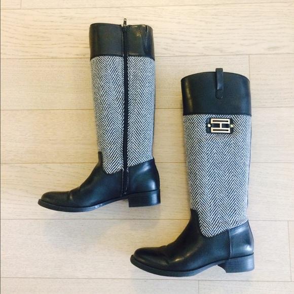5c655a77126e Tommy Hilfiger Herringbone Riding Boots
