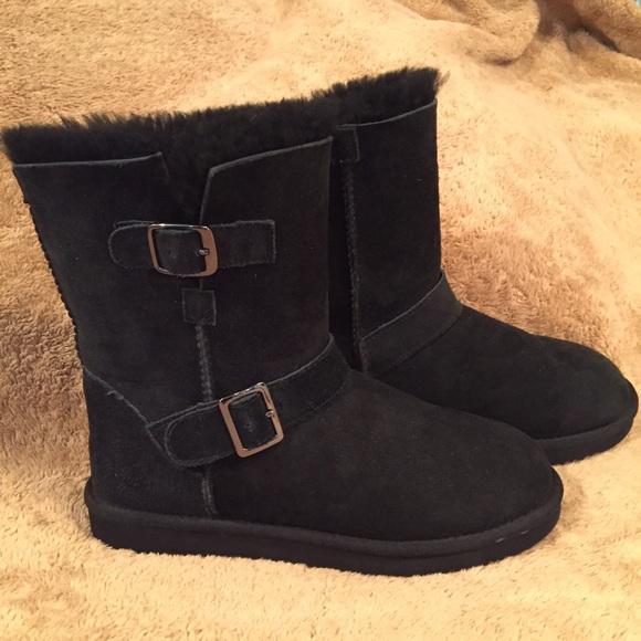 5c873ce4ed0 Kirkland Shoes - Kirkland Signature Shearling Buckle Boot  faux Ugg