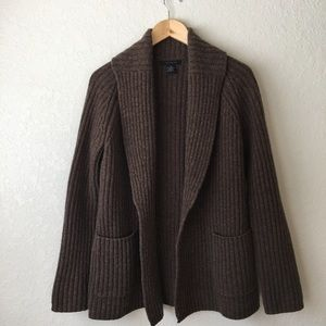 The Limited Jackets & Blazers - The Limited brown wool sweater