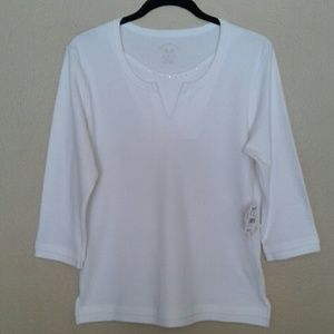 NWT HASTING & SMITH LAYERED LOOK TOP