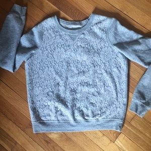 Abercrombie & Fitch Tops - Lace sweatshirt
