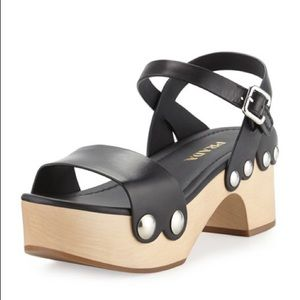 Prada leather clog sandal