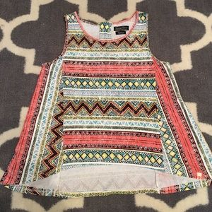 Lucky Brand tribal print tank top