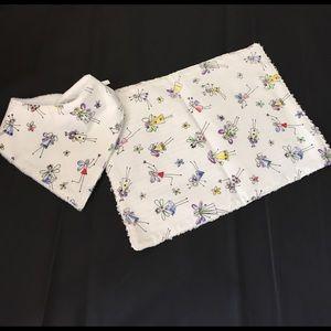 Other - Brand new baby girl bib and burp cloth set
