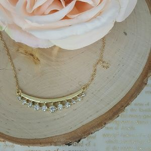 Bar Necklace | Gold Tone