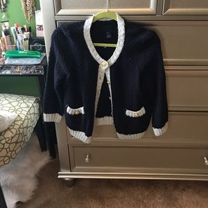 Forever 21 Sweaters - Forever 21 Navy Cardigan