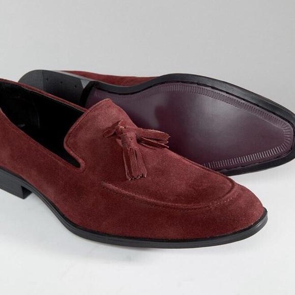 bc46f4ef3bd HP🎉NIB Suede Tassel Loafers Burgundy