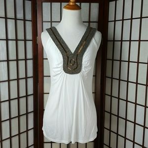 Grace Elements Tops - NWT GRACE ELEMENTS Sleeveless White Top Size L