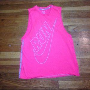 Pink Nike sleeveless Run tee